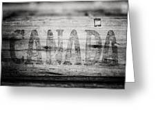 Canada In Black And White Greeting Card