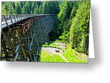 Canada National Historic Wooden Trestle- Kinsol Trestle Near Shawnigan Lake, Bc Canada. Greeting Card