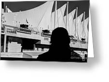Canada Place Wings Silhouette Greeting Card