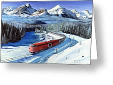 Canadian At Morant's Curve Greeting Card