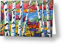 Canadian Birches By Prankearts Greeting Card