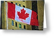 Canadian Flag Greeting Card
