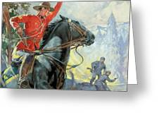 Canadian Mounties Greeting Card