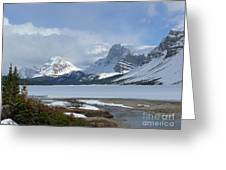 Canadian Rockies Bow Lake Greeting Card