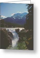Canadian Rockies Cascade Greeting Card