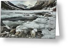 Canadian Rockies Rugged Winter Landscape Greeting Card