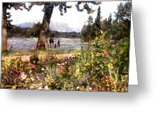 Canadian Sunday Out By The Lake Greeting Card