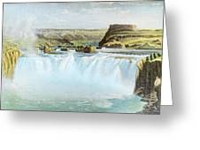 Canadian Water Fall Greeting Card
