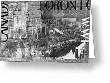 Canadian Wwi Nostalgic Collage Greeting Card