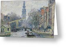 Canal Amsterdam Greeting Card