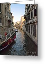 Canal And Gondola Greeting Card