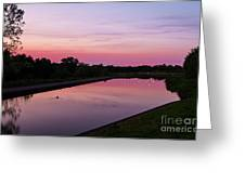 Canal At Sunset Greeting Card