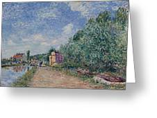 Canal Du Loing-chemin De Halage Greeting Card