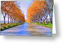 Canal Du Midi Greeting Card