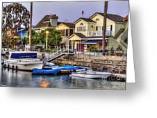Canal Houses And Boats Greeting Card