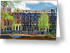 Canal Houses Greeting Card
