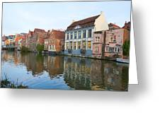 Channel In Ghent Greeting Card