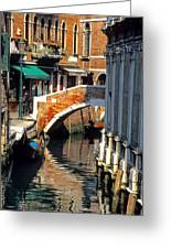 Canal Next To Church Of The Miracoli In Venice Greeting Card
