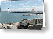Canal Park In Duluth  Greeting Card
