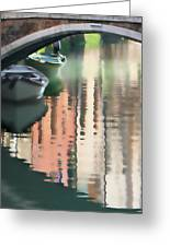 Canal Reflection San Barnaba Greeting Card by Vicki Hone Smith