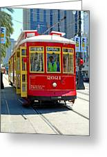 Canal Street Cable Car Greeting Card