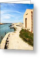Canal - Trapani Salt Flats Greeting Card