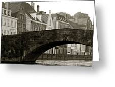 Canal View Of Bruges Greeting Card