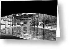 Canal Walk Tunnel Greeting Card