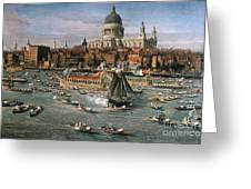 Canaletto: Thames, 18th C Greeting Card