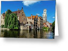 Canals Of Bruges Greeting Card