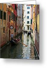 Canals Of Venice Italy Greeting Card