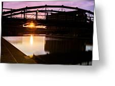 Canalside Dawn No 2 Greeting Card