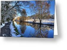 Canalside Winter Wonderland Greeting Card