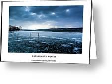 Canandaigua Lake Winter Greeting Card