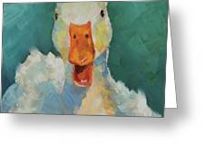 Canard Souriant Greeting Card