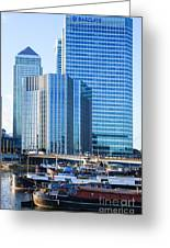 Canary Wharf 10 Greeting Card