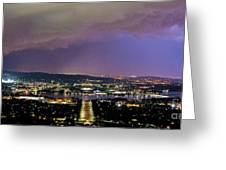 Canberra Stormy Night Greeting Card