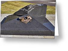 Canberra Veterans Statue Greeting Card