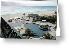 Cancun Beach Resort Greeting Card
