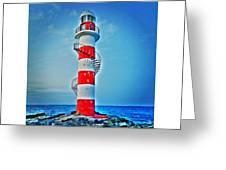 Cancun Lighthouse  Greeting Card