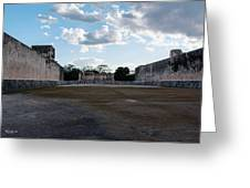 Cancun Mexico - Chichen Itza - Great Ball Court - Open End Greeting Card