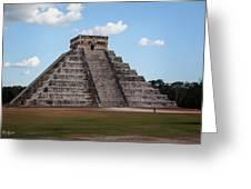 Cancun Mexico - Chichen Itza - Temple Of Kukulcan-el Castillo Pyramid 2 Greeting Card