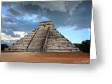 Cancun Mexico - Chichen Itza - Temple Of Kukulcan-el Castillo Pyramid 3  Greeting Card
