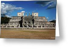Cancun Mexico - Chichen Itza - Temple Of The Warriors Greeting Card