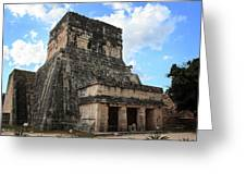 Cancun Mexico - Chichen Itza - Temples Of The Jaguar On The Great Ball Court Greeting Card