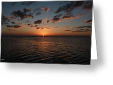 Cancun Mexico - Sunset Over Cancun Greeting Card