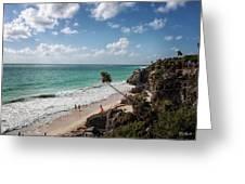 Cancun Mexico - Tulum Ruins - Caribbean Beach Greeting Card