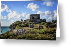 Cancun Mexico - Tulum Ruins - Temple For God Of The Wind 2 Greeting Card