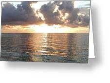 Cancun Sunrise Greeting Card