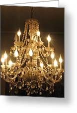 Candelabra Chandelier Greeting Card by Hasani Blue